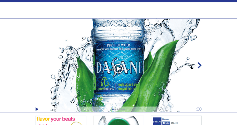 about page of 16 leading water label dasani