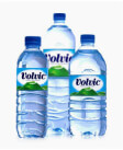 Top Filtered Water Label Logo: Volvic