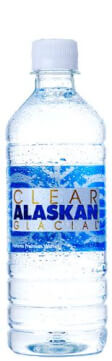 Top Glacial Bottled Water Brand Logo: Clear Alaskan