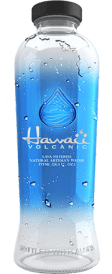 Top Volcanic Bottled Water Label Logo: Hawaii Volcanic