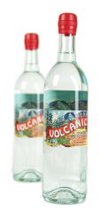 Top Volcanic Bottled Water Label Logo: Volcanic